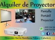 Alquiler de proyector y/o portÁtil + pantalla de l