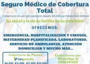 Seguro médico de salud cobertura total