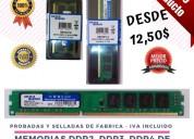 Memoria ram ddr2, ddr3, ddr4 2gb, 4gb, 8gb