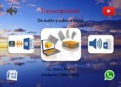 Transcripciones de audio y video
