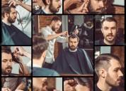 Servicio de barberia profesional, masajes y tratam