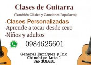 Guitarra clases personalizadas