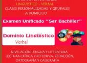 """Preparación prueba""""ser bachiller"""".dominio linguís"""