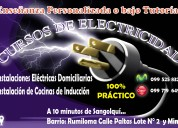 Cursos de instalaciones eléctricas domiciliarias.