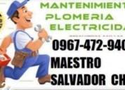 Maestro plomero electricista quiteÑo chiliquinga