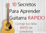 10 secretos para aprender a tocar guitarra