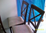 Vendo juego de comedor de 6 sillas usado $ 200