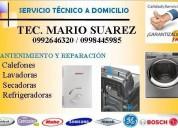 Mantenimiento y reparacion de lavadoras secadoras