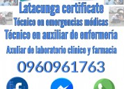 Certificate tecnico en emergencias medicas
