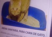 Arena cama  gatos con arcilla absorbente de olores