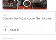 Vendo cámara de fotos semiprofesional kodak