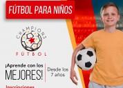 Curso de fútbol para niños