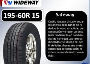 Llantas wideway 195-60r 15 modelo safeway