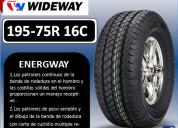 Llantas wideway 195-75r 16c modelo energway