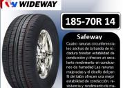 Llantas wideway 185-70r 14 modelo safeway