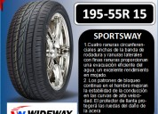 Llantas wideway 195-55r 15 modelo sportsway