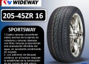 Llantas wideway 205-45r 16  modelo sportsway