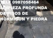 Limpieza de pisos de piedra porosa telef 2428098