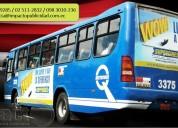 Publicidad en buses a nivel nacional