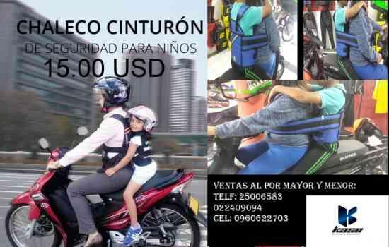 arnes para niño en moto