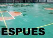 Telf 2428098 limpieza de canchas deportivas de hor
