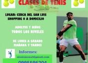 Clases de tenis para adultos y niños