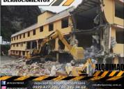Derrocamientos, desbanques, desalojos,excavaciones
