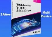 Bit_defender total security -1 pc 2 años 10usd