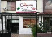 Se vende excelente pizzeria restaurant
