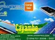 Venta y mantenimiento de calentadores solares