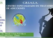 Centro especializado en tratamiento de adicciones