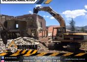 Derrocamientos, desbanques, excavaciones, desalojo