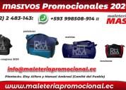 Proveedores de mochilas promocionales en ecuador