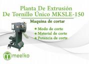 Planta de extrusión de tornillo Único meelko mksle
