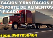 Limpieza y fumigacion para transporte de alimentos