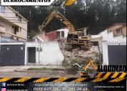 Derrocamientos, limpieza de terrenos, excavaciones