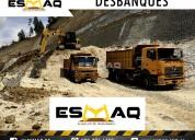 Alquiel de maquinaria, demolición, desbanque y más