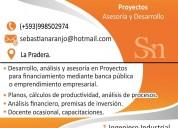 Desarrollo de proyectos, planes de negocios cfn