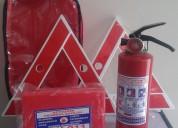 Carga de extintores, kit vehicular $25, conos, cha