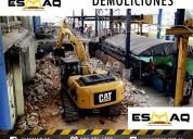 Alquiler de excavadora de oruga, demoliciones.