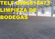 Telef 2428098 limpieza profunda de galpones y bodegas industriales