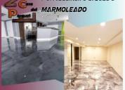 Porcelanato liquido en pisos marmoleados