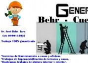 Mantenimiento casas, oficinas, departamentos