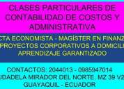 Clases de contabilidad general y gubernamental.