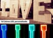 Alquiler de letras iluminadas para eventos.