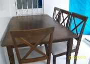 Oportunidad vendo juego de comedor de 6 sillas mad