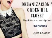 Organizacion de ropa en  closet y armarios