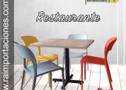 Silla mesa restaurante