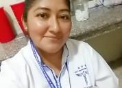 Busco empleo como auxiliar d enfermeria.