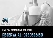 Limpieza profesional y servicio doméstico por hora